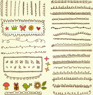 Cartoon floral border and frame vector