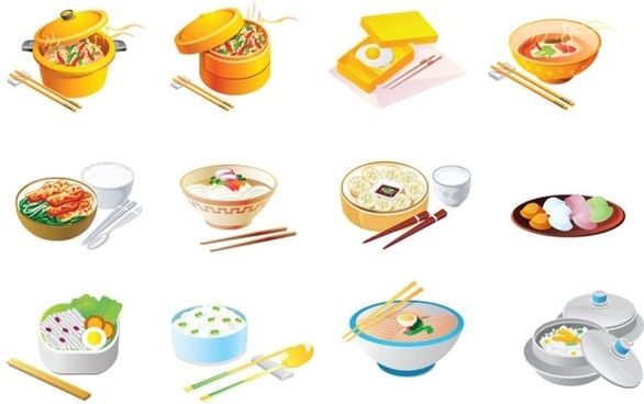cartoon food icon vector