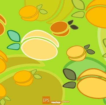 cartoon food pattern design vector