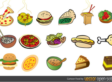 cartoon foods free vector
