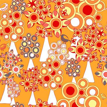 cartoon forest pattern seamless vector