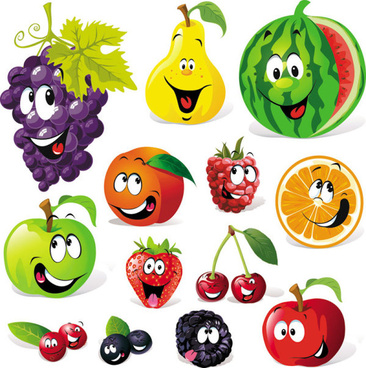 cartoon fruit vector graphics