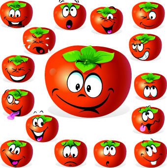 cartoon funny fruit vector