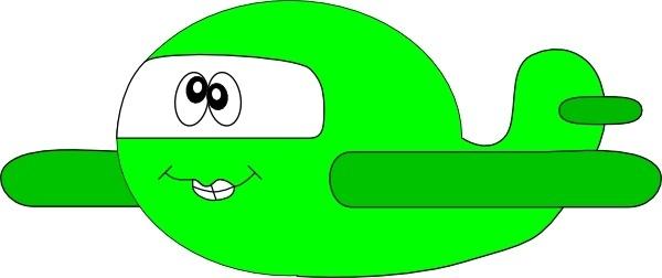 Cartoon Goofy Airplane clip art