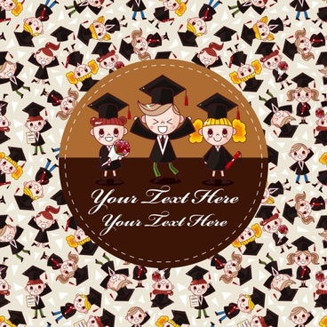 cartoon graduates vector