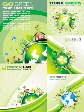 cartoon green polar coordinates vector