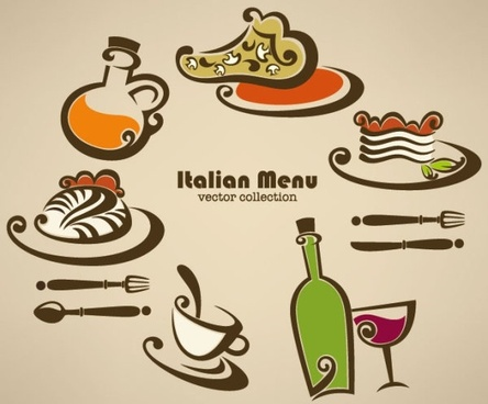 cartoon handpainted food 03 vector