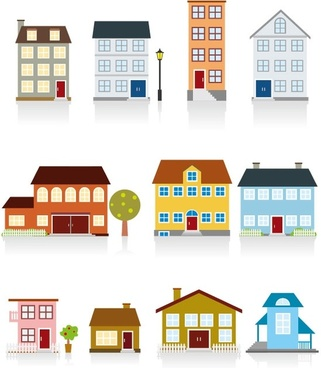 cartoon housing 02 vector