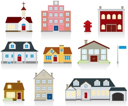cartoon housing 03 vector