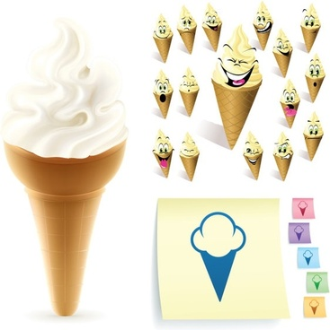 cartoon ice cream 01 vector