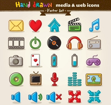 cartoon icon vector 1