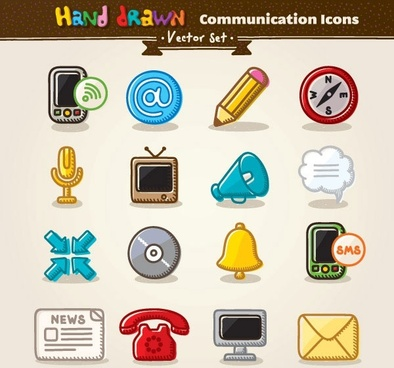 cartoon icon vector 5