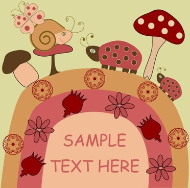 cartoon illustration background 02 vector