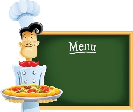 cartoon image of chefs and waiters 05 vector