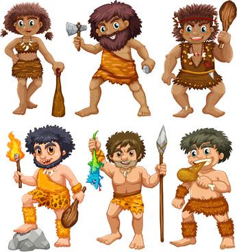 cartoon indigenous people vector