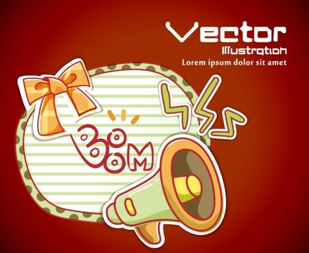 cartoon label background 03 vector