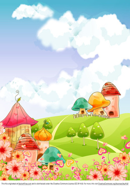 cartoon landscape