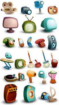 cartoon life icon vector