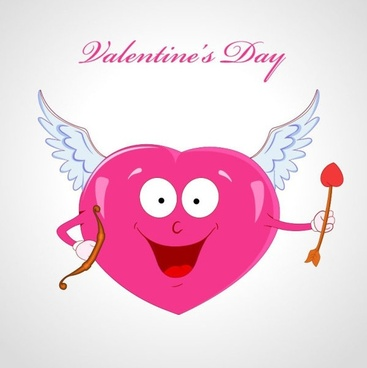 cartoon love theme 02 vector