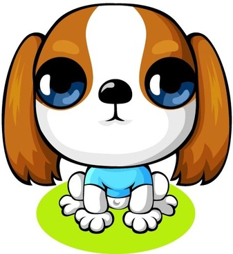 cartoon lovely dog vector set
