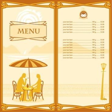 cartoon menus 01 vector