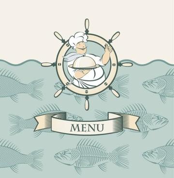 cartoon menus 03 vector