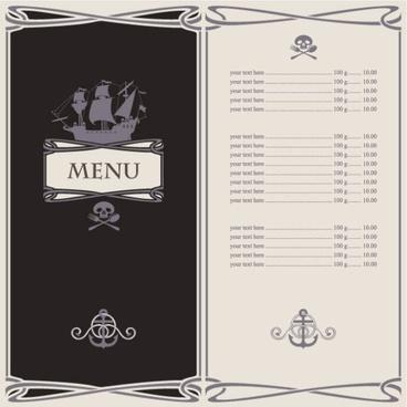 cartoon menus 05 vector