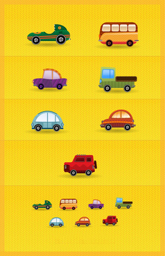 cartoon mini vehicle vector