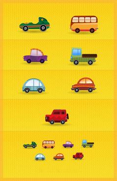 cartoon mini vehicle vector