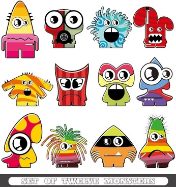 cartoon monster 01 vector