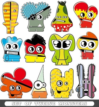 cartoon monster 02 vector