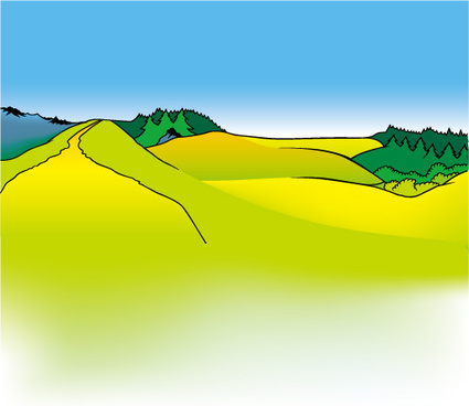 cartoon mountains landscapes vector graphics