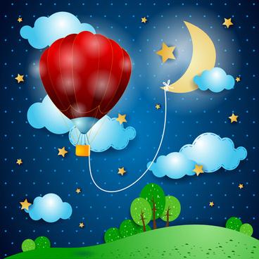 cartoon night vector