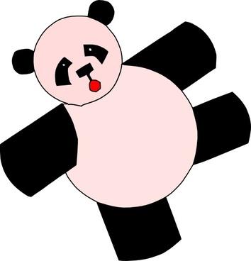 Cartoon Panda Bear clip art