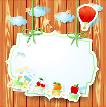 cartoon paper cards vector graphics