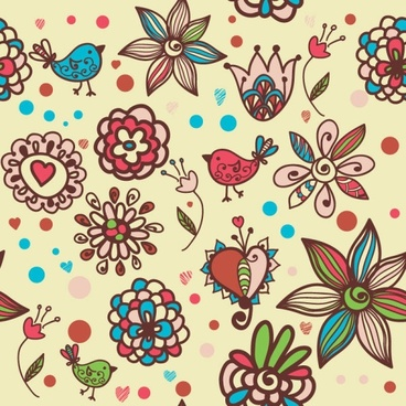 cartoon pattern background 01 vector