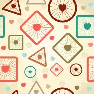 cartoon pattern background 03 vector
