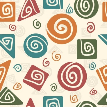 cartoon pattern background 04 vector