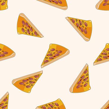 cartoon pizza pattern seamless vectors