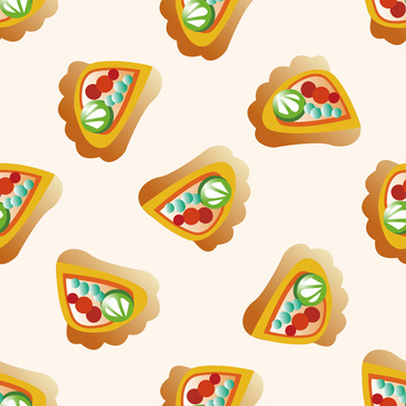 cartoon pizza pattern seamless vectors