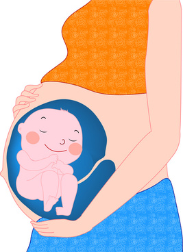 cartoon pregnant woman