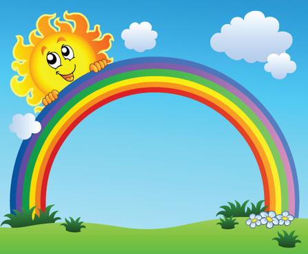 Cartoon Rainbow Wallpaper Free Vector Download 21632 Free Vector