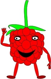 cartoon raspberry