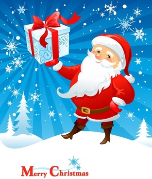 cartoon santa claus 02 vector