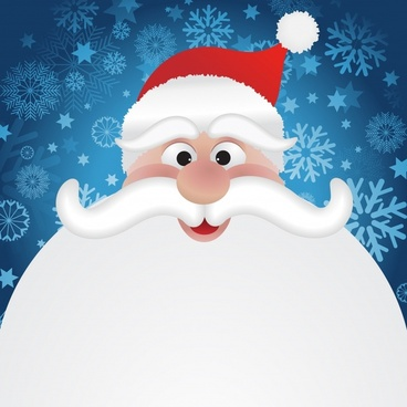 cartoon santa claus snow vector