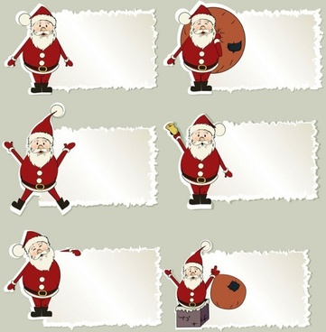 cartoon santa claus tab 01 vector
