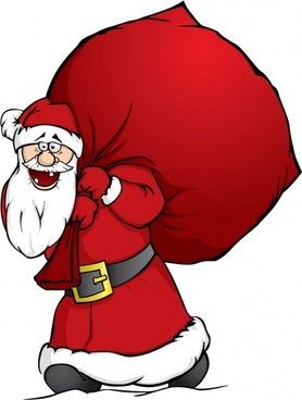 funny santa claus icon colored cartoon character sketch