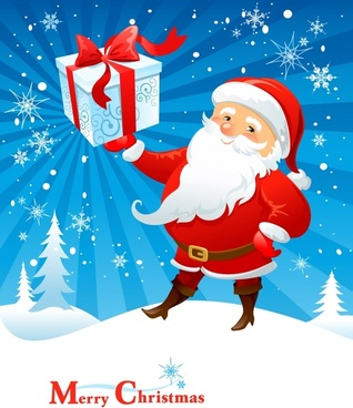 cartoon santa claus vector illustration