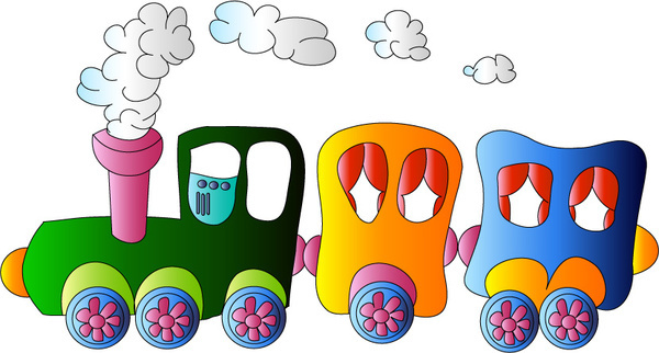 cartoon small train cute vector
