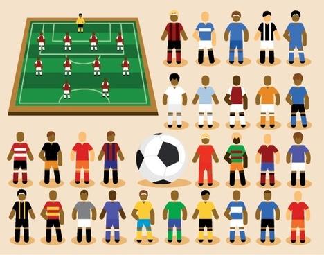 cartoon soccer vector